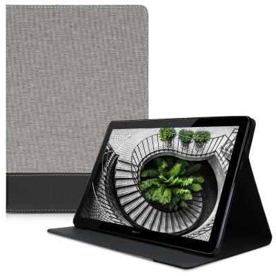 Θήκη-smart cover με stand για Huawei MediaPad T5 10 γκρί-μαύρη by KW
