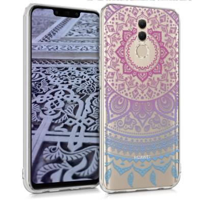 Ημιδιάφανη Θήκη σιλικόνης Indian Sun Blue Dark Pink για Huawei Mate 20 Lite