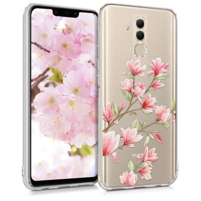Θήκη σιλικόνης flowers για Huawei Mate 20 Lite