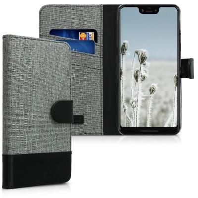 KW Θήκη Πορτοφόλι Google Pixel 3 XL - Grey/Black (200-104-162)