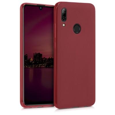 Θήκη Σιλικόνης για Huawei P Smart (2019) - Soft Flexible Dark Red by KW (200-104-829)