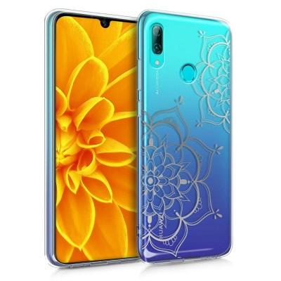 Θήκη Σιλικόνης Huawei P Smart (2019) -  Flower Twins Silver/Transparent by KW (200-105-626)