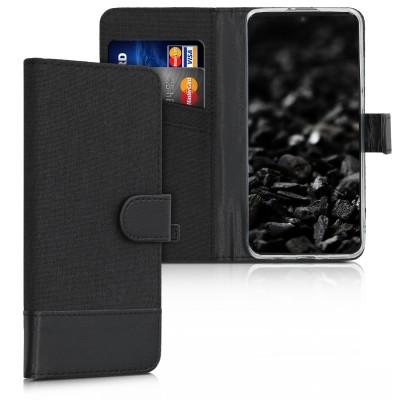 Θήκη πορτοφόλι Anthracite / Black για Huawei P30 Lite by KW (200-104-556)