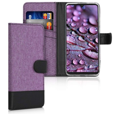 Θήκη πορτοφόλι Violet/Black για Huawei P30 Lite by KW (200-104-954)