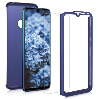 KW Θήκη Full Body Huawei Y7 (2019) / Y7 Prime (2019) & Screen Protector - Metallic Blue (200-104-290)