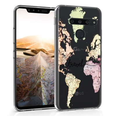 KW Θήκη Σιλικόνης LG G8s ThinQ - Black / Multicolor / Transparent (200-104-741)