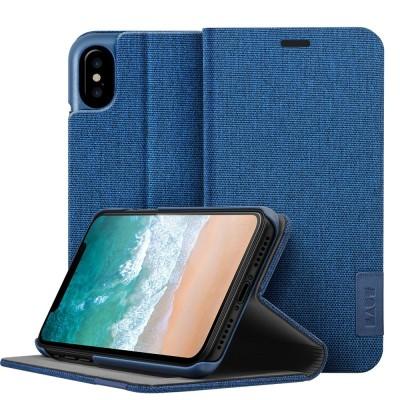 Θήκη-Πορτοφόλι για iPhone X Μπλε By Laut