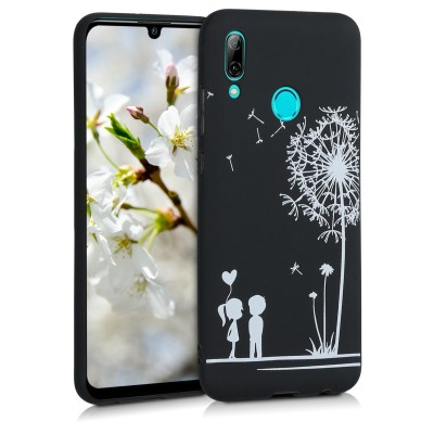 KW Θήκη Σιλικόνης Huawei P Smart 2019 - Dandelion Love White / Black (200-104-824)