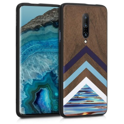 KW Ξύλινη Θήκη OnePlus 7 Pro- Brown - Wood And Water Design (48598.03)