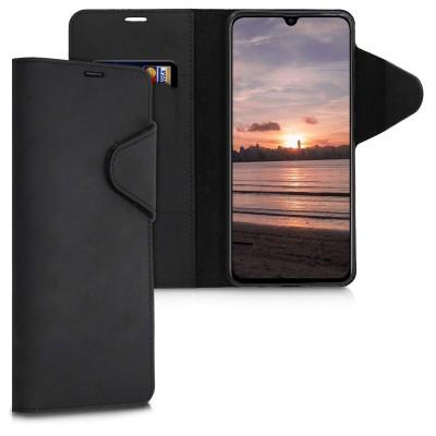 Kalibri Δερμάτινη Suede Θήκη Πορτοφόλι Samsung Galaxy A70 - Black (200-104-479)