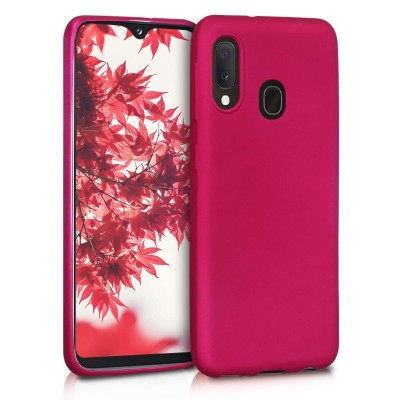 KW Θήκη Σιλικόνης Samsung Galaxy A20e - Metallic Pink (200-104-445)