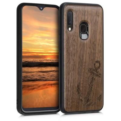 KW Ξύλινη Θήκη Samsung Galaxy A20e - Vintage Anchor Dark Brown (48751.03)