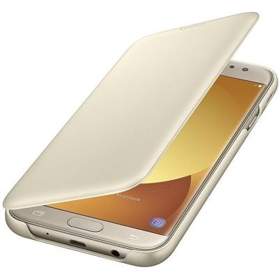 Samsung Official Wallet Case Samsung Galaxy J7 2017- Gold (EF-WJ730CFEGWW)