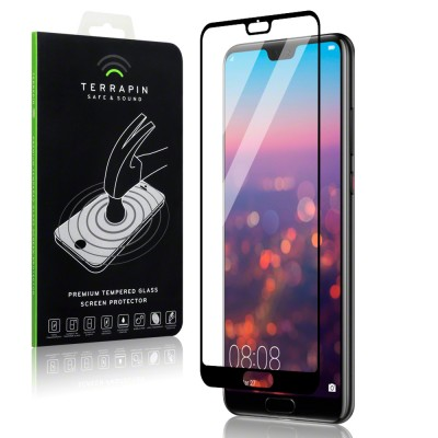 Terrapin Tempered Glass - Αντιχαρακτικό with Black Edge Γυαλί Οθόνης Huawei P20