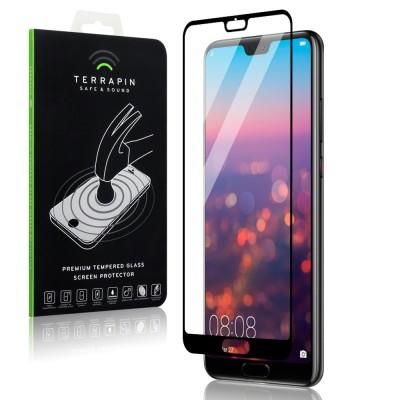 Terrapin Tempered Glass - Αντιχαρακτικό with Black Edge Γυαλί Οθόνης Huawei P20