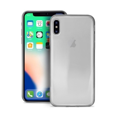 Puro Ultra Slim Θήκη Σιλικόνης iPhone X / XS - Transparent (IPCX03NUDE-TR)