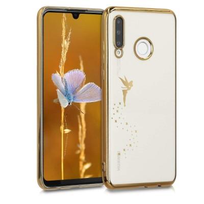 Θήκη Σιλικόνης για Huawei P30 Lite Fairy Gold/Transparent by KW (200-105-157)