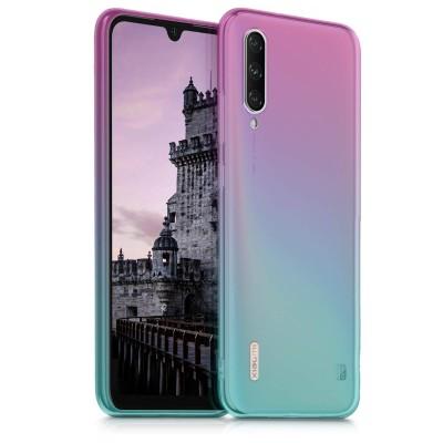 KW Θήκη Σιλικόνης Xiaomi Mi A3 / CC9e - Bicolor dark pink / blue / transparent (200-104-473)
