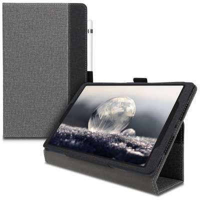Θήκη-smart cover με stand για Samsung Galaxy Tab A 10.1 (2019) -Grey/Black by KW (200-104-884)
