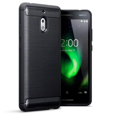 Terrapin Θήκη Σιλικόνης Carbon Fibre Design Nokia 2.1 - Black