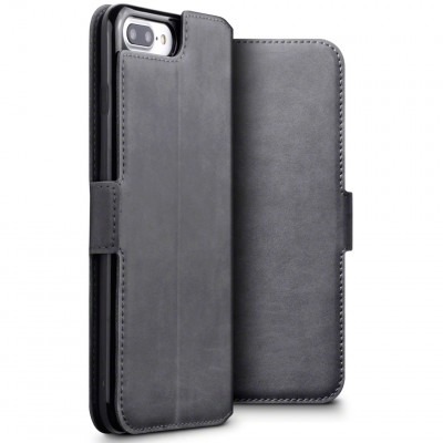 Terrapin Low Profile Δερμάτινη Θήκη - Πορτοφόλι iPhone 8 Plus/ 7 Plus - Grey