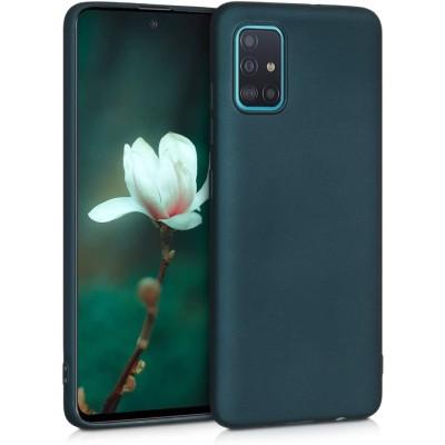 KW Θήκη Σιλικόνης Samsung Galaxy A51 - Metallic Teal (200-106-039)