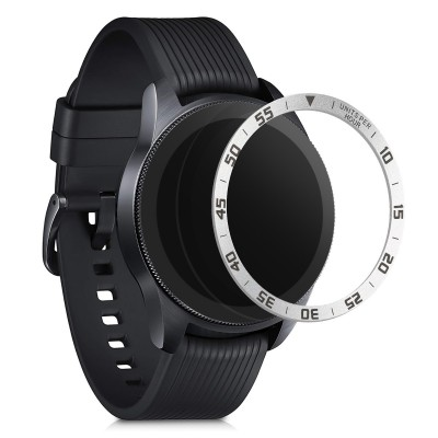 KW Aluminium Bezel Ring Samsung Galaxy Watch 42mm - Silver / Black (51995.01)