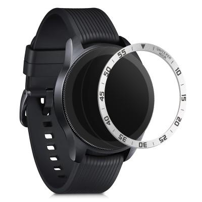 KW Aluminium Bezel Ring Samsung Galaxy Watch 42mm - Silver / Black (51995.01)