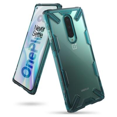 Ringke Fusion X Θήκη Σιλικόνης OnePlus 8 - Turquoise Green (72418)