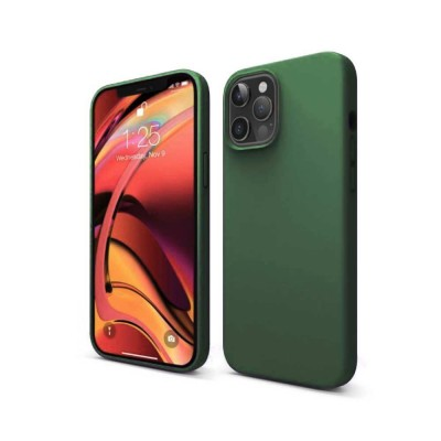 My Colors Original Silicone Case For iPhone 12 / 12 Pro Dark Green (200-108-255)