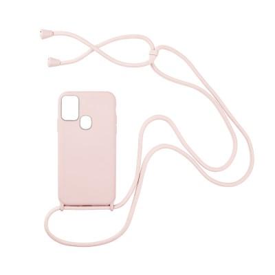 CarryHang Liquid Silicone Κορδόνι Samsung  Galaxy A21s OEM - ΡΟΖ (200-108-260)