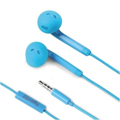 Celly Color Stereo Earphones - Light Blue (FUN35LB) (200-105-746)