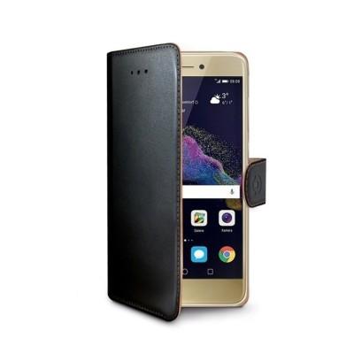 Celly Wally Θήκη - Πορτοφόλι Huawei P8 Lite 2017 - Black (WALLY642)