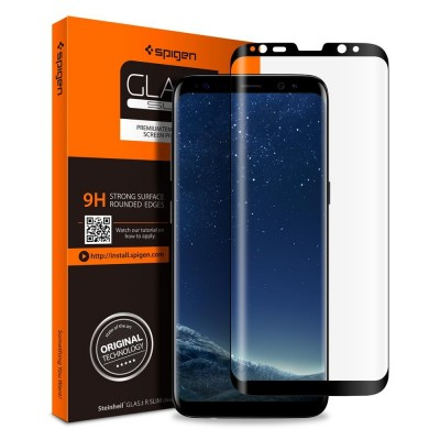 Spigen Galaxy S8+(Plus) GLAS.tR Full Cover Glass (571GL21778)