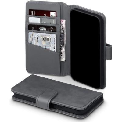 Terrapin Δερμάτινη Θήκη Πορτοφόλι Apple iPhone 12 / 12 Pro - Grey (117-134-003)