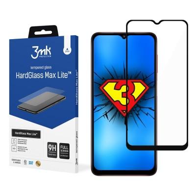 3MK HardGlass Max Lite Full Face Tempered Glass Samsung Galaxy A02s Μαύρο