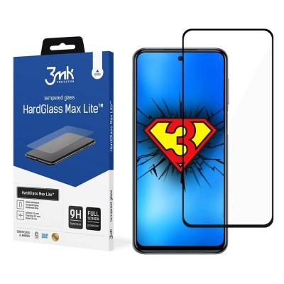 3MK HardGlass Max Lite Full Face Tempered Glass Samsung Galaxy A72  Μαύρο (200-107-973)