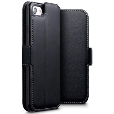 Terrapin Low Profile Δερμάτινη Θήκη - Πορτοφόλι iPhone 8 / 7 - Black