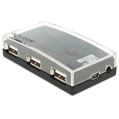 Delock USB 2.0 4-Port External Hub w/Power (61393)