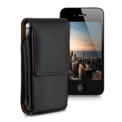 Universal Θήκη κινητού με clip ζώνης για κινητά με οθόνη έως 6.3 inches μαύρη by KW