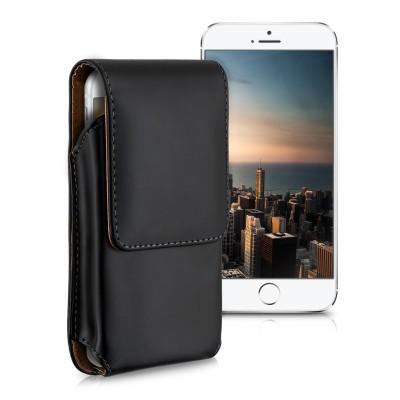 Universal Θήκη κινητού με clip ζώνης για κινητά με οθόνη έως 4.6 inches μαύρη by KW
