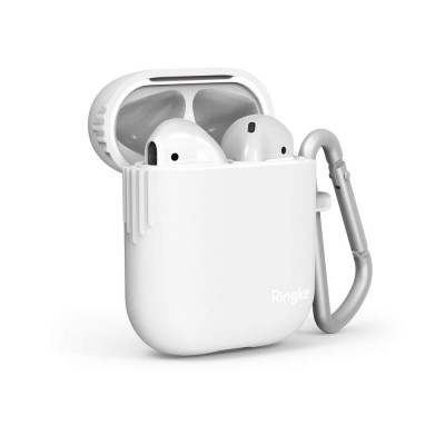 Ringke Θήκη Σιλικόνης Apple Airpods 2nd Gen / 1st Gen - White (52108)