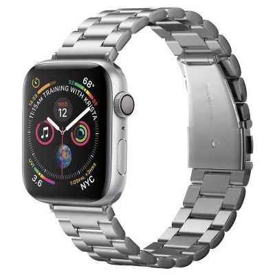 Spigen Modern Fit Μεταλλικό Λουράκι Apple Watch SE/6/5/4/3 - 44/42mm - Silver (062MP25404)