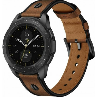 Tech-Protect Δερμάτινο Λουράκι Screwband - Samsung Galaxy Watch 3 45mm - Brown (73380)