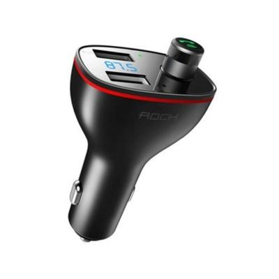 Rock B300 Διπλός USB Φορτιστής Αυτοκινήτου - FM Transmiter - Black (44971)