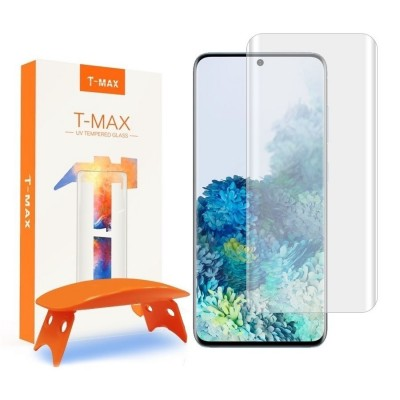 T-MAX Liquid Full Glue 3D Tempered Glass - Σύστημα Προστασίας Οθόνης Samsung Galaxy S20 (62912)