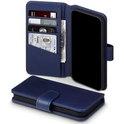 Terrapin Δερμάτινη Θήκη Πορτοφόλι Apple iPhone 12 / 12 Pro - Blue (117-134-005)