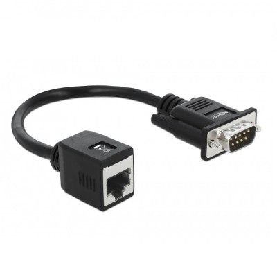 Delock Serial RS-232/422/485 DB9 Male Adapter > RJ45 (63999)