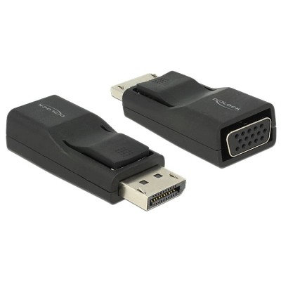Delock Adapter Displayport 1.2 > VGA M/F Black (65653)