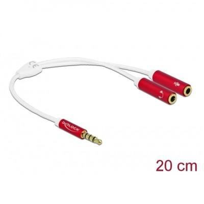 Delock Headset Adapter 3.5mm 4pin > 2 x 3pin M/F (66519)